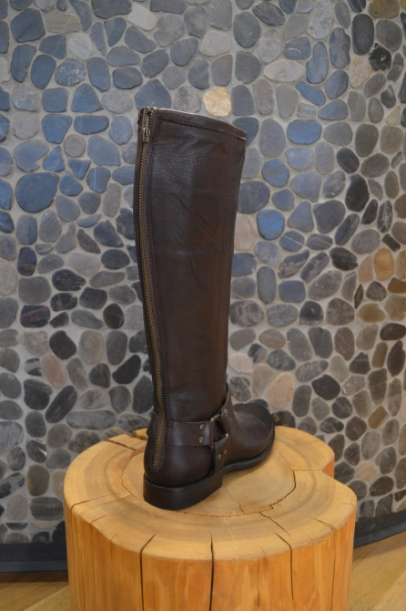 FRYE Tall Boots with Back Zip in Brown