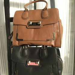 Guess Palermo Madison bags in brown and black
