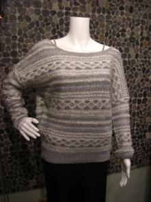 "Press ""boyfriend"" sweater with deep v back mohair"