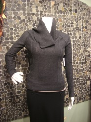 Press cowl neck sweater