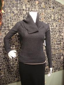 Press cowl neck sweater