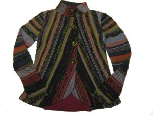 Embroidered Ivko knit blazer