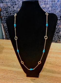 Magnesite thread necklace Beads by Gosh
