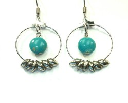 Magnesite earrings Beads by Gosh