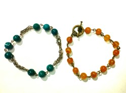 Magnesite and Citrine bracelets Beads by Gosh