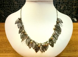 Leaf Necklace Beads by Gosh