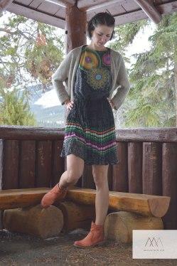 Dress: Desigual, Boots: Mjus