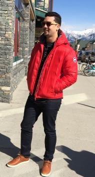 Jacket: Canada Goose, Jeans: Mavi
