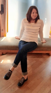 Sweater by Parkhurst, Jeans by AG, Shoes by Cloud.